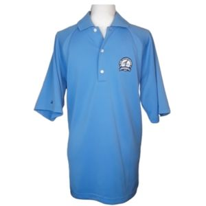 GREG NORMAN COLLECTION Light Blue Golf Polo Mens M